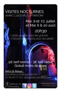 Visite Nocturne @ Ruines de l'Abbaye Saint Pierre de Marcilhac